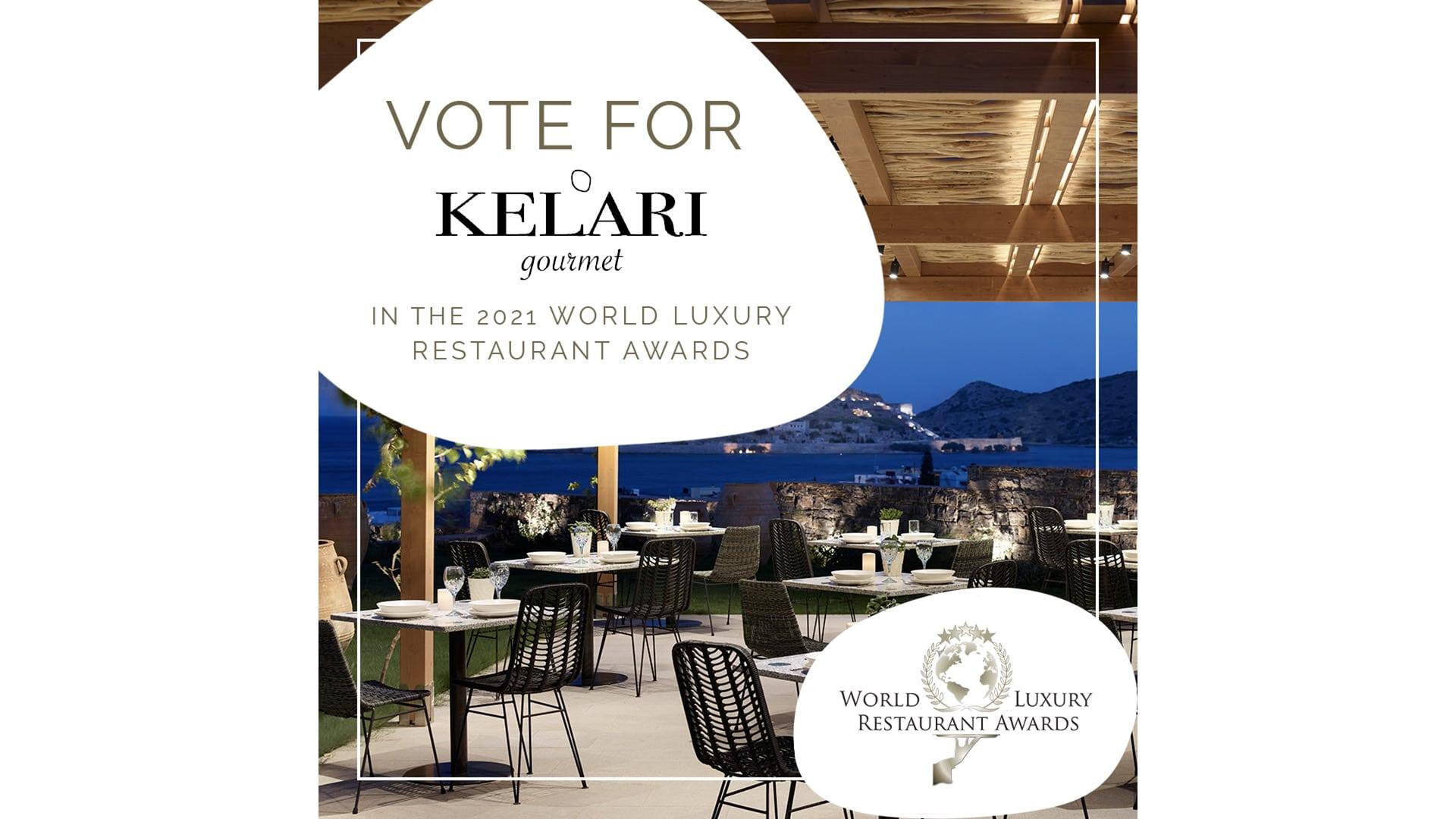 Luxury Restaurant Award Nomination for Cayo's Kelari Gourmet Restaurant